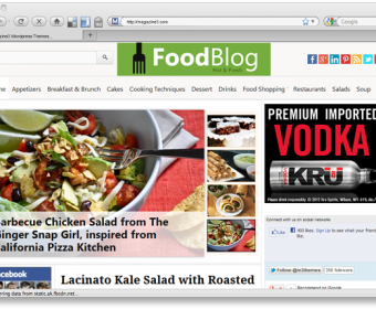 FoodBlog – Essential WordPress Theme for Food Bloggers
