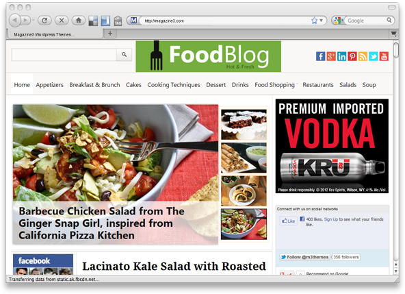 foodblog premium wordpress theme