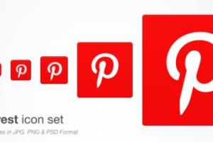 Pinterest Icon Set Free PSD Download