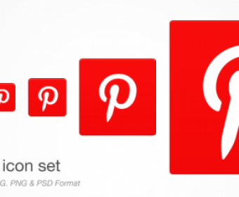 Pinterest Icon Set Free PSD Download