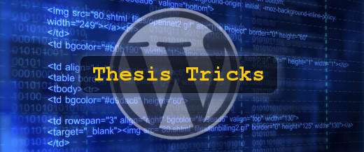 Thesis custom homepage