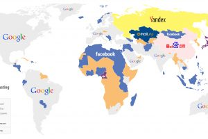 Websites Hotspot – World Map Dominated by Google