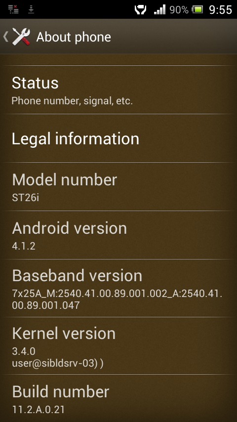 Sony Xperia J Jelly bean update