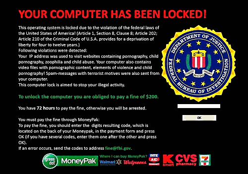 How to Remove FBI Moneypak virus from your computer in an easy method