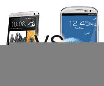 Samsung Galaxy S4 versus HTC One