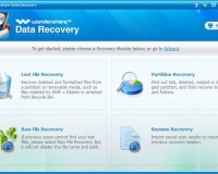 Use Wondershare for Quick Data Recovery