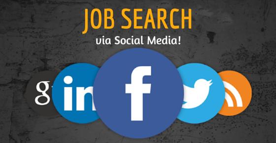 Job searching via social media