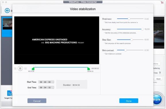 video proc stabilization