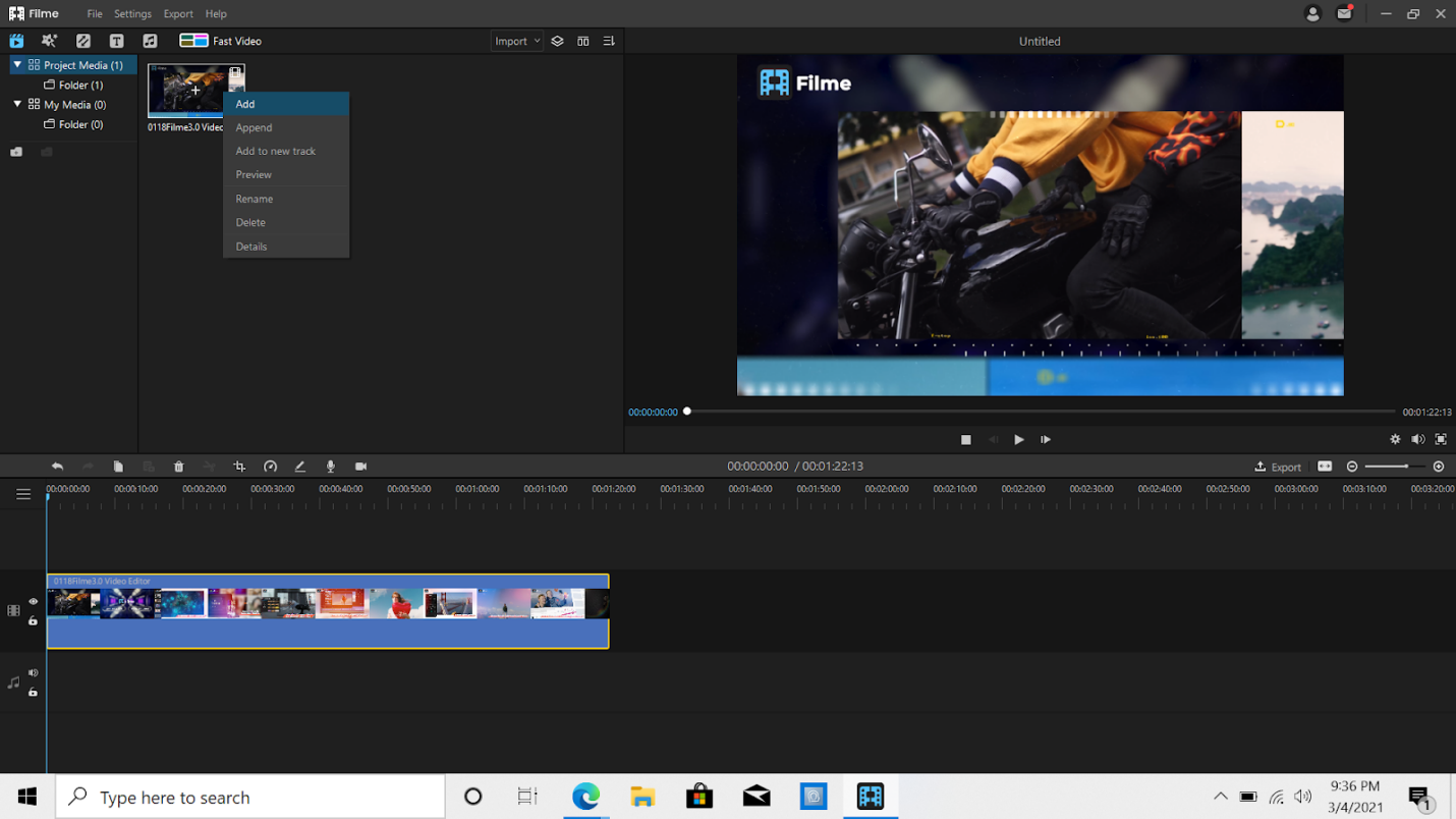 How to Trim Videos in iMyFone Filme?