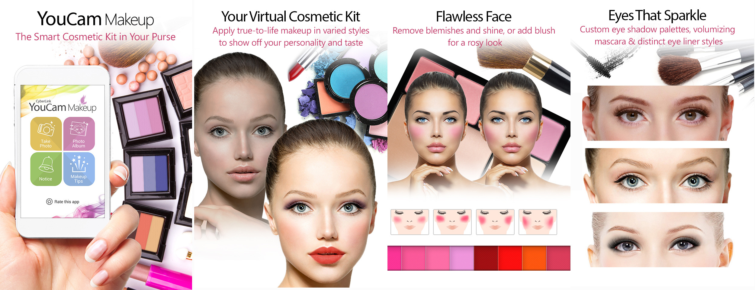 Features of the YouCam Makeup App